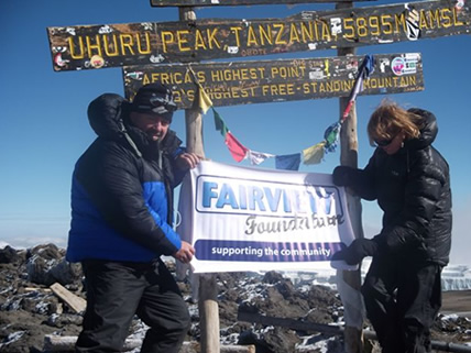 David & Jeanie continue onto 'Uhuru peak', the girls both suffering badly from altitude sickness return to camp.